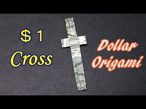 Dollar Origami Cross | How to Make Cross out of $1 Bill  | Easy Money Folding Tutorial