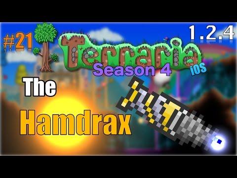 Let's Play Terraria (1.2.4) iOS- THE HAMDRAX PRE-HARDMODE!!!!!! Episode 21