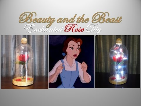 Beauty and the Beast Enchanted Rose DIY $6 or less