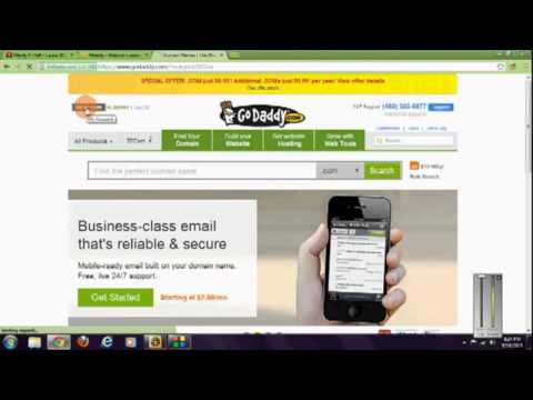 Get a 99cent domain name & link to a free weebly site using godaddy.com tutorial