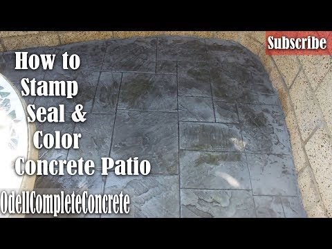 How to Color Concrete, Stamp and Seal a Great Beginner Slab  DIY (Royal Ashler Slate)
