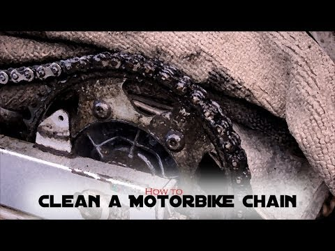 How to clean a FILTHY motorbike chain and Adjust. (TRANSALP 600)