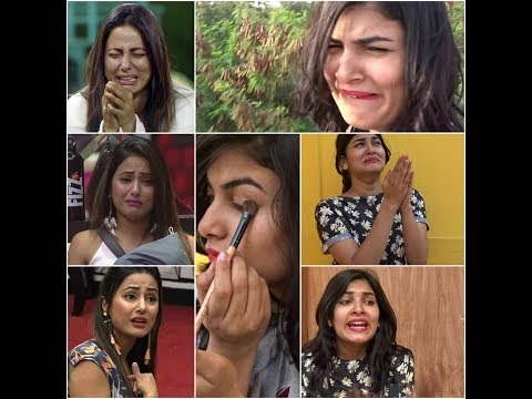 HINA KHAN MOMENTS (FIGHTS AND CRYING) IN BIG BOSS PART 1