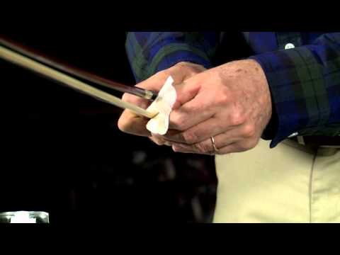 Violin - Cleaning your bow hairs