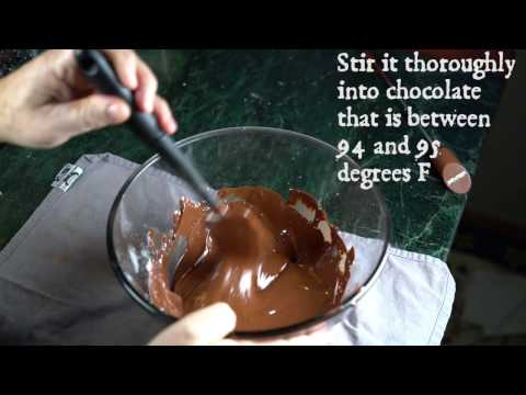How to to make cocoa butter silk for tempering chocolate