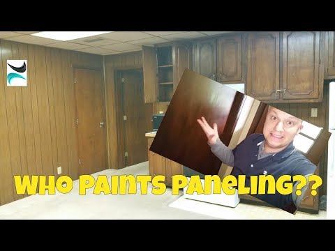 How to Paint UGLY BROWN PANELING