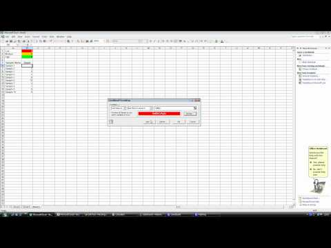 Conditional Formatting in Excel 2003
