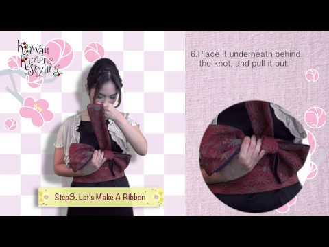 Kawaii Kimono Styling2:How to wear OBI Ribbon with your dress