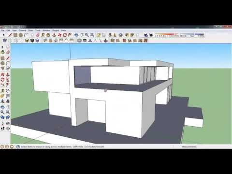 How to make Modern House in Google Sketchup