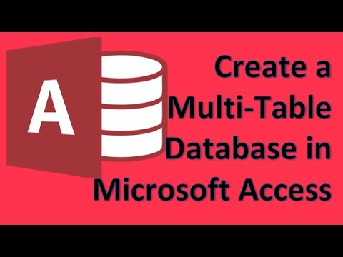 Microsoft Access - 01 Create a simple store invoice system tutorial create tables