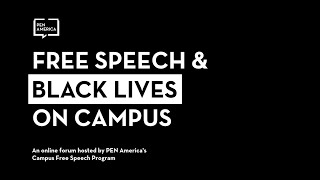 [WEBINAR] Free Speech and Black Lives on Campus