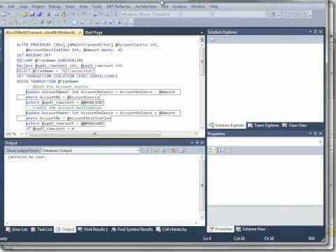 SQL Server Stored Procedures Debuggen
