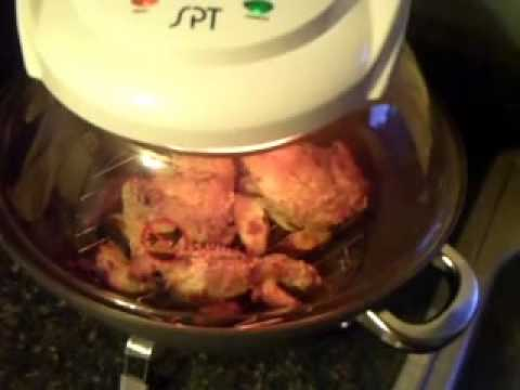 new convection oven: chicken and fries
