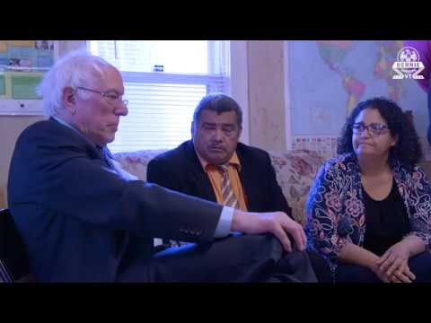 Sen. Sanders Meets with Pastor in Sanctuary from ICE