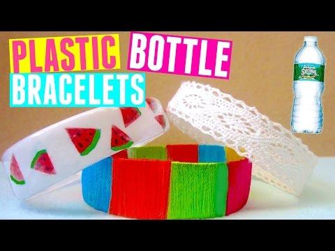 DIY Bracelets Recycling Plastic Bottles: Watermelon, Tribal & Lace