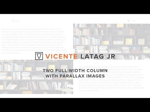 Divi Theme Tutorials - 2 Full Width Column with Parallax Image