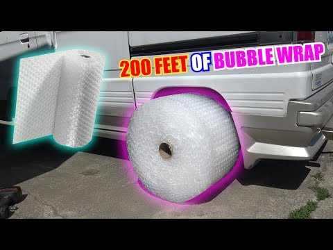 We Tried BUBBLE WRAP Tires