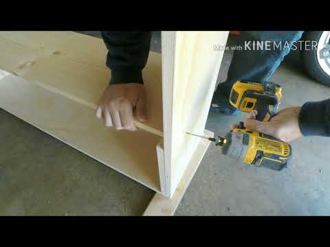 Woody Wednesday:  DIY Making Shelves with Plywood
