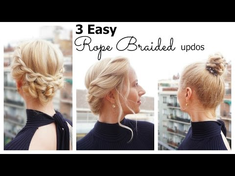 3 Easy Rope Braided Updos for short & medium hair | Hairs Affairs