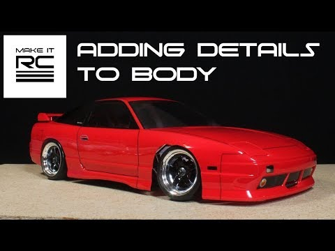 Budget RC Drift Build: Part 4 Adding Decals, Spoiler, Tint, and Body Lines
