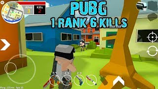 Grand Battle Royale: Pixel War (PUBG) First Place - #1 Rank and 6 Kills - Android Gameplay