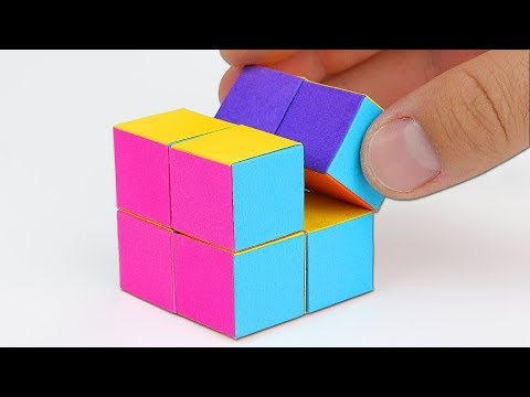 How To Make An INFINITY CUBE Out Of Paper! Origami CUBE Tutorial