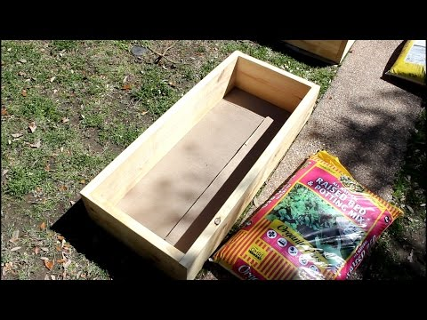 DIY EASY Cheap Raised Garden Box