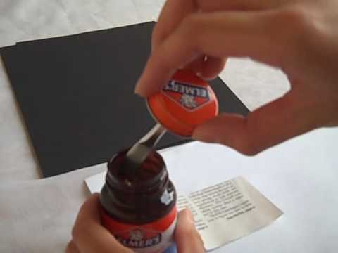 how to use rubber cement