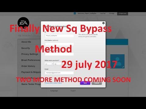 Finally Origin Security Question Bypass | Sq Bypass updated 29 july 2017
