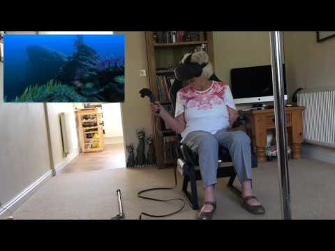 Iris, 91, Virtual Reality World. Love it!