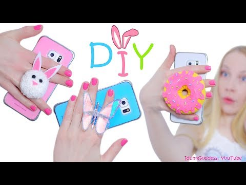 DIY Phone Grips - How To Make Cute Bunny, Donut and Butterfly Popsockets For Your Smartphone