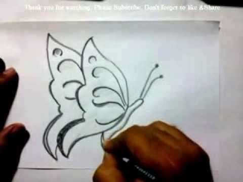 How to Draw a Butterfly | YZArts | YZArts