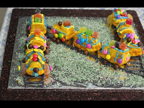 How to make a train cake @home -  Very easy