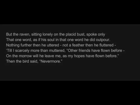 The Raven, by Edgar Allan Poe