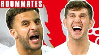Walker v Stones | Walker STILL Can't Believe his FIFA 19 Stats! | Roommates | England