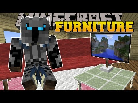 Minecraft: FURNITURE! (COUCHES, TABLES, TV, CHAIRS, LAMPS, & MORE!) Custom Command