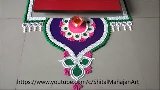 beautiful rangoli for ganesh chaturthi special 2019|very easy small and quick rangoli designs