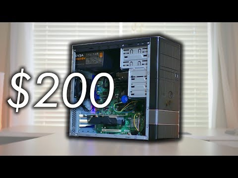 A $200 Gaming PC (Almost) Anyone Can Build - Fortnite, PUBG, & More! (2018)
