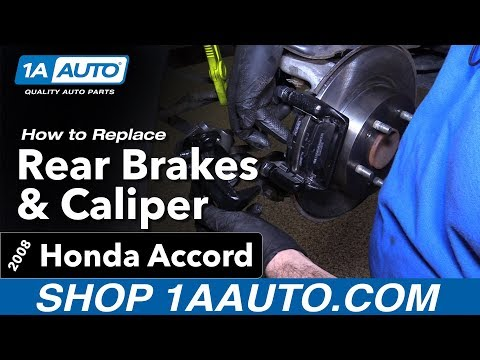 How to Replace Rear Brakes and Caliper 08-17 Honda Accord