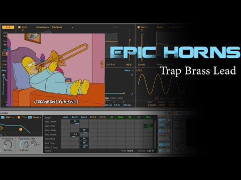 Making Trap Horns - Ableton Wavetable