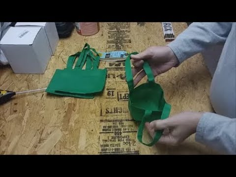 Save Dollar Tree 1$ Mini Craft Fabric Bags Used For Small Grow Bags Air Pots For Plants & Seedlings.