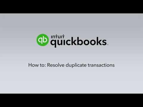 How to resolve duplicate transactions
