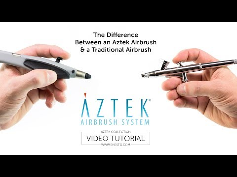 The Difference between an Aztek Airbrush & a Traditional Airbrush