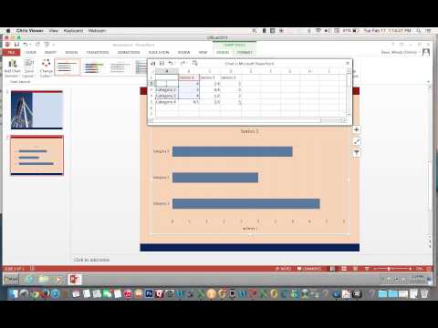 Change Excel Chart Format & Add a Title in PowerPoint 2013