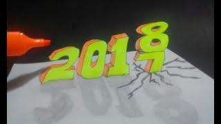 WAU... UCAPAN SLAMAT TAHUN BARU 2018 3D