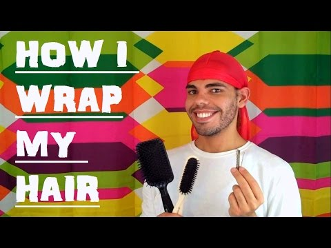 How to wrap your Hair at Night (How I wrap & unwrap Straightened natural curly Hair) time Routine