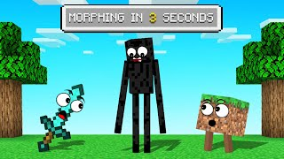 Minecraft BUT Every 60 SECONDS You MORPH Into RANDOM THINGS!