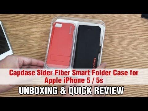 Capdase Sider Fiber Smart Folder Case for Apple iPhone 5 / 5s