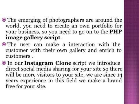 Instagram Clone - Instagram Script - PHP image gallery script