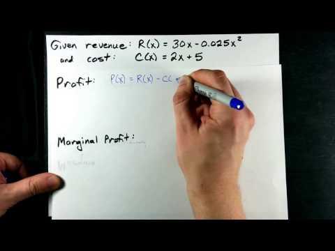 Marginal Revenue, Marginal Cost, Marginal Profit